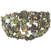 Retired Heidi Daus all autumn colored jeweled bracelet