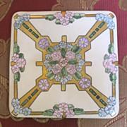 Bavarian Trivet porcelain handpainted with flowers