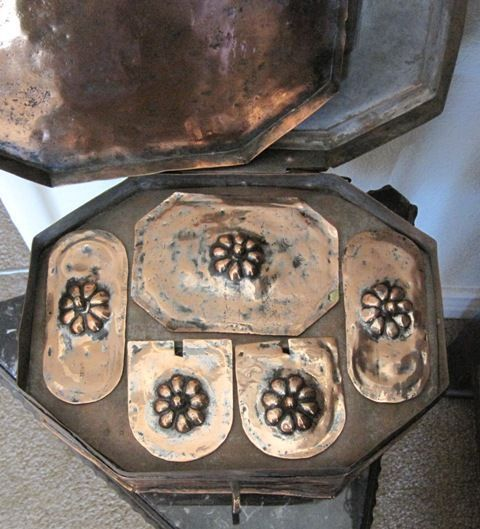 Authentic Raj Victorian Indian Copper tea box and serving tray