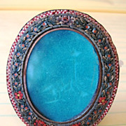 Early mini micro mosiac picture frame from Italy with intricate design