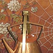 Jungendstil copper & brass WMF kettle stand & burner