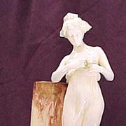 Calsbad female figural porcelain vase