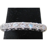 Fine Jewelry Diamond and Platinum wedding band