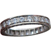 Ladies diamond 18k Eternity Wedding Band 1.20 carat