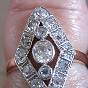 Platinum and 14kyg circa 1930's diamond ring with appraisal