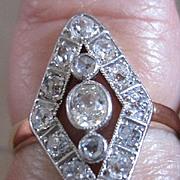 Platinum and 14kyg circa 1930's diamond ring with appraisal