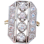 European cut diamond ladies Edwardian ring 14k & platinum