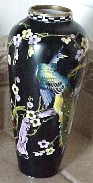 English Forester Phoenix Ware Asia vase