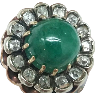 $7500 Incredible works of Art, Vintage  Enameled 14k White Gold Filigree 5.82cttw Genuine Emerald & Diamonds