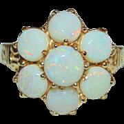 Art Deco  14K Gold  3.75 Carat Natural Fiery Opal Ring Beatiful