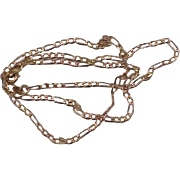 """Estate Vintage 14kt  yellow gold figaro link style chain necklace 18"""""""