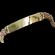 """Estate Vintage Custom made 14k 3-tone gold"""" Jazzy 15 """"bracelet 7"""" 14gr"""