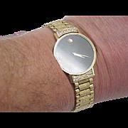 Unisex Vintage Movado 14k Solid Gold Bracelet & Case Diamond Watch