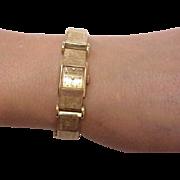 Unique Ladies Antique 14k Solid Gold Bracelet & Case Watch Designed by Otto Grun