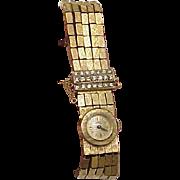 Unique Ladies Antique Girard Perregaux 18K Yellow Gold 2.00ct Diamond Watch