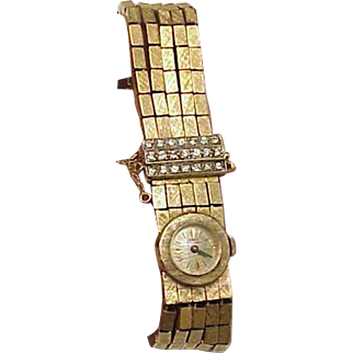 Unique Ladies Antique Girard Perregaux 18K Yellow Gold 2.00ct Diamond Watch
