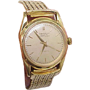 Mens Authentic IWC Schaffhausen Automatic 18k Solid Gold Watch Bracelet,1950s