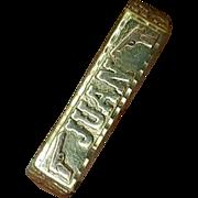 """Vintage 14K 2-Tone Gold Two Finger Double Bar Mens Ring Custom Made """"Juan"""""""