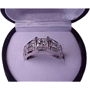 $16249 Unisex 14k White Gold 2.00ctw Natural Princess Cut Diamond Ring comes with EGL and IGL Appraisal Certificate