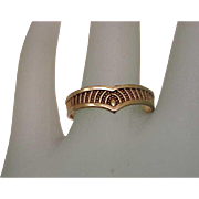 Victorian  Unisex  10k Yellow  Gold  Wedding Band Ring, early 1900s