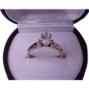 $6000 14k Yellow Gold .80ct Diamond ( E Color extremely rare and expansive, emits unrivaled brilliance!) Ring ,Appraisal Certificate Included!!