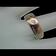 Estate Vintage Ladies 14k Yellow Gold Diamond Wedding Band Ring