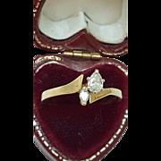 Estate 14K Yellow Gold .40ct Diamond Engagement  Ring