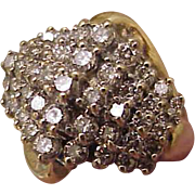 $4868 Estate Vintage 10K Yellow Gold 2.00ct Diamonds Cluster Wedding Ring Band, appraisal included!