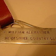 English Sterling Silver Luggage Tag  Handmade Signed