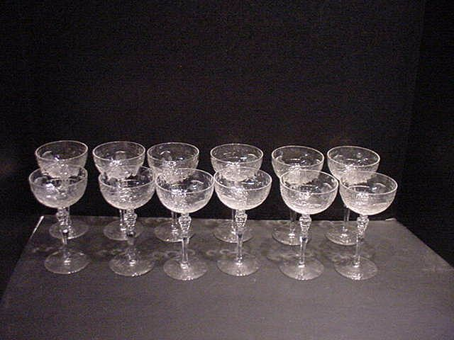 Rock Sharpe Countess Pattern 12 Cocktail Glasses