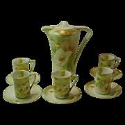 R S Germany Handpainted Porcelain Chocolate Set