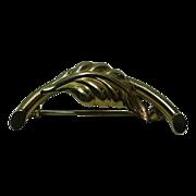 10 K Gold Leaf Pin Pendant Signed Regel