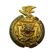 Republican Women of Penna. Inc. Pin Gold Filled With Diamond