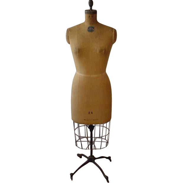 Vintage Mannequin Dress Form With metal cage  shirt