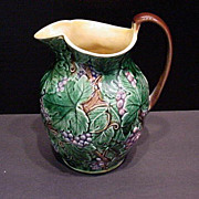 Antique England Majolica Pitcher Marked Wedgwood - Red Tag Sale Item