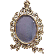 Arch Table Top Bronze Mirror Circa 1900