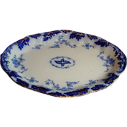 Antique  Flow Blue Platter By Grindley Of England