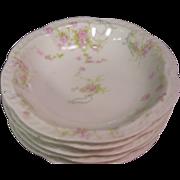 Haviland Limoges France The Princess 5 Fruit Bowls