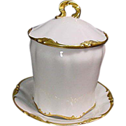 Limoges France Porcelain Condensed Milk Container