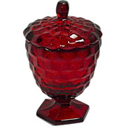 Fostoria American Ruby Red Candy Dish