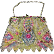 Vintage Enamel Mesh Purse Made In Germany