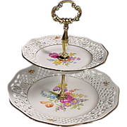 Schumann Arzberg Germany Porcelain  Serving Tray Dresden Pierced