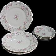 Haviland Limoges France Schleiger 32A 3 Plates, 3 bowls