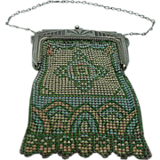 Whiting and Davis Art Deco Enamel Mesh Bag