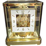Jaeger LeCoultre Atmos Desk Clock Gilded Case 528-8  Working 15 Jewels
