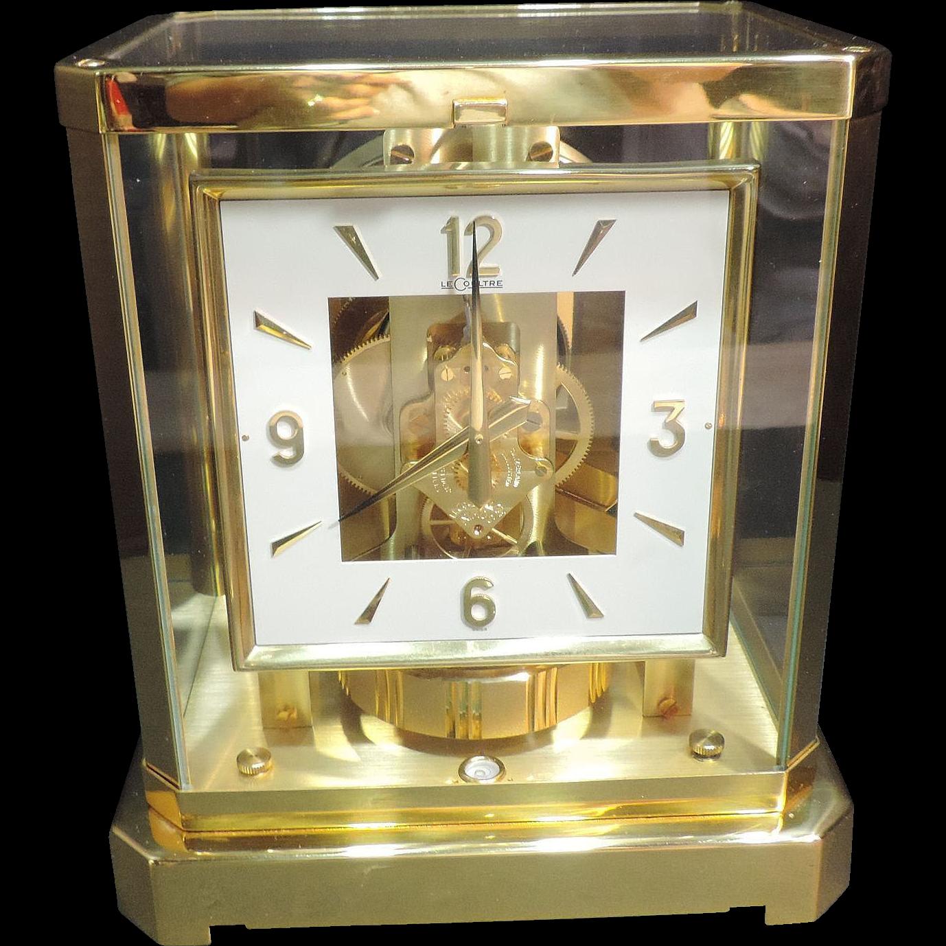 Jaeger Lecoultre Atmos Desk Clock Gilded Case 528 8