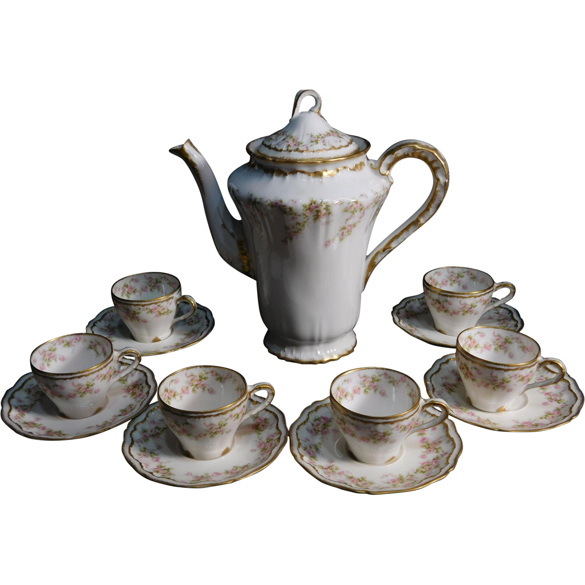 Theodore Haviland Limoges France Chocolate Set SOLD On
