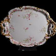 Haviland Limoges France Pink Rose Dresser Tray