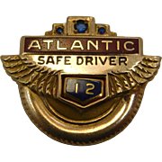 Atlantic Safe Driver Award 10K Gold  Pin