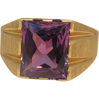 10k Yellow Gold Alexandrite Ring